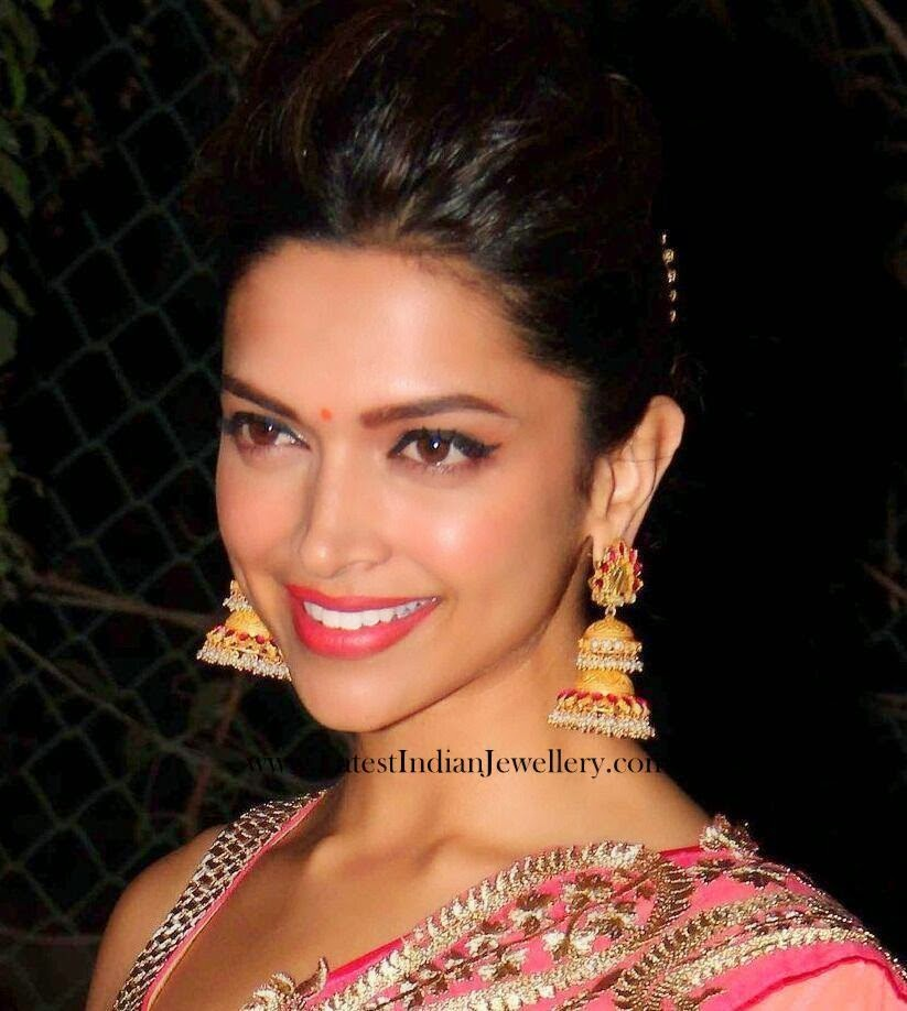 deepika padukone amrapali jhumki earrings