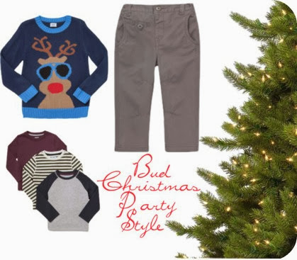 Boy Christmas party clothes F&F Tesco Reindeer Christmas Jumper
