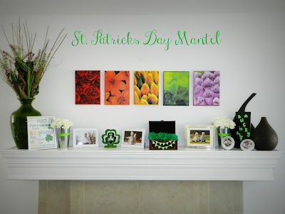 St. Patricks Day Mantel