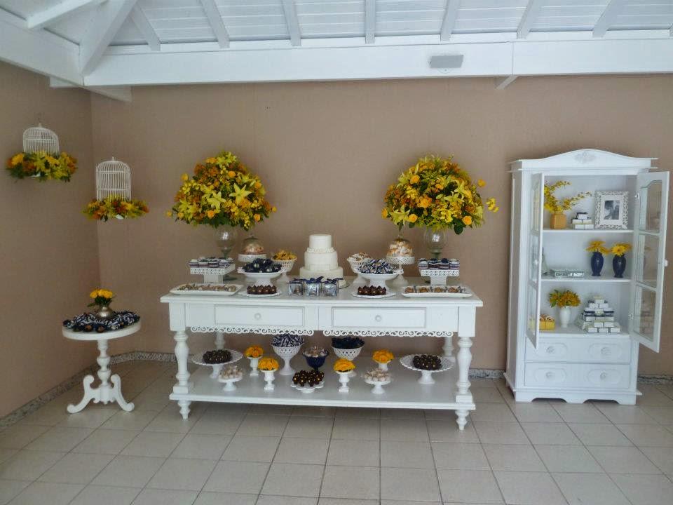 decoracao azul e amarelo noivado:Tudo Simples e Decorado: Noivado – Azul, Amarelo e Branco