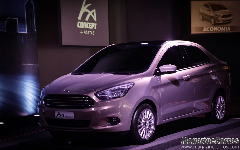 NOVO FORD KA SEDÃN 2014 - Ford revela no Brasil