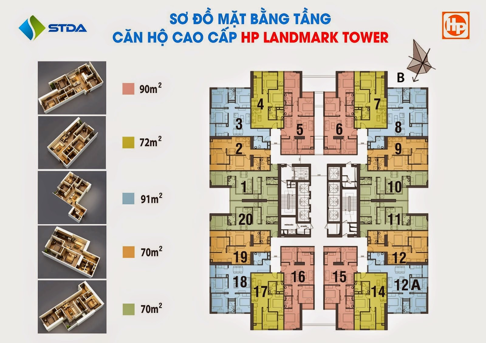 MẶT BẰNG nhà tập thể HP LANDMARK TOWER