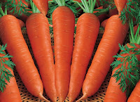 Carrots with a smooth face mask