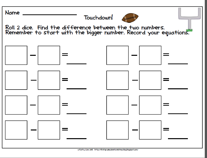 math worksheet : first grade subtraction games  worksheets for kids teachers  : Subtraction Games Worksheets