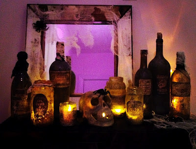 How to make Halloween Potion Jars and Bottles