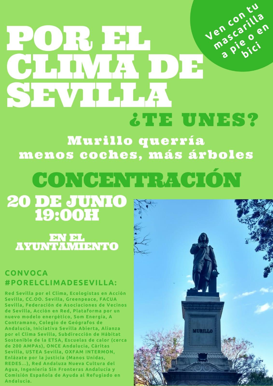 CONCENTRACIÓN POR EL CLIMA DE SEVILLA