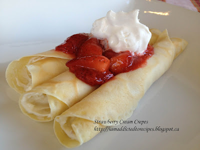 Strawberry Cream Crepes | Addicted to Recipes
