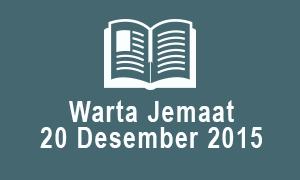 Warta Jemaat 20 Desember 2015