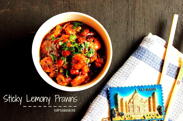 how to cook sticky lemony prawns