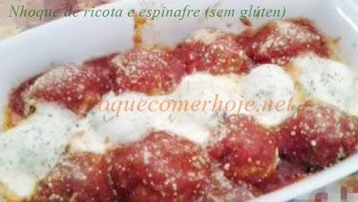Receita de Nhoque de Ricota com Espinafre sem farinha (receita muito prática)
