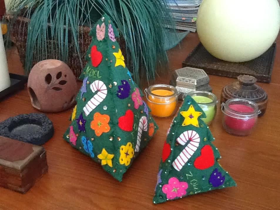 Agariguyi complementos de fieltro rboles de navidad de - Arbol de fieltro ...