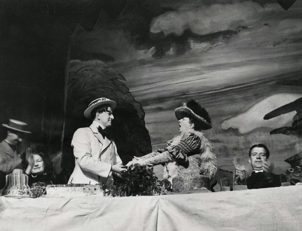 Peter Pears and Joan Cross in the 1947 English Opera Group production of Britten's Albert Herring at Glyndebourne