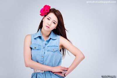 14 Han-Ga-Eun-Denim-Shirt-01-very cute asian girl-girlcute4u.blogspot.com