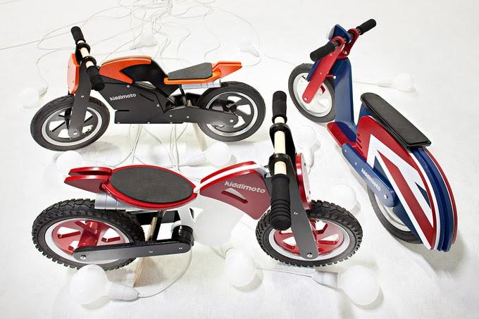 детско колело дървено баланс байк Kiddimoto