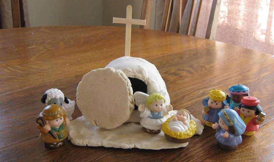Almost unschoolers resurrection scene craft for children for Salt dough crafts figures