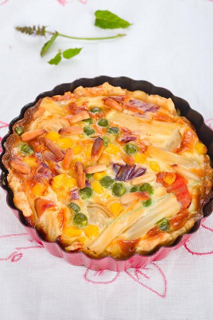 Rezept für Quiche mit Gemüse. Edyta Guhl.