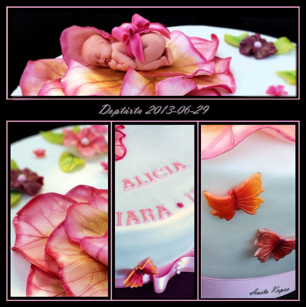 Doptårta, cake, christening cake, doptårta, Aneta Kopec, Aneta