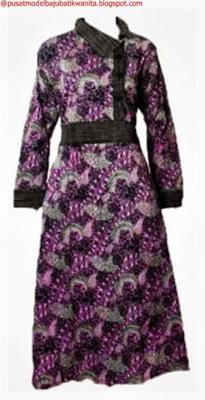 Model baju batik gamis wanita terbaru gambar model baju Gambar baju gamis batik wanita