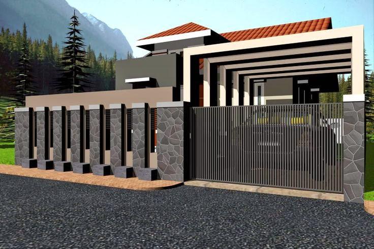 contoh pagar rumah minimalis 2014