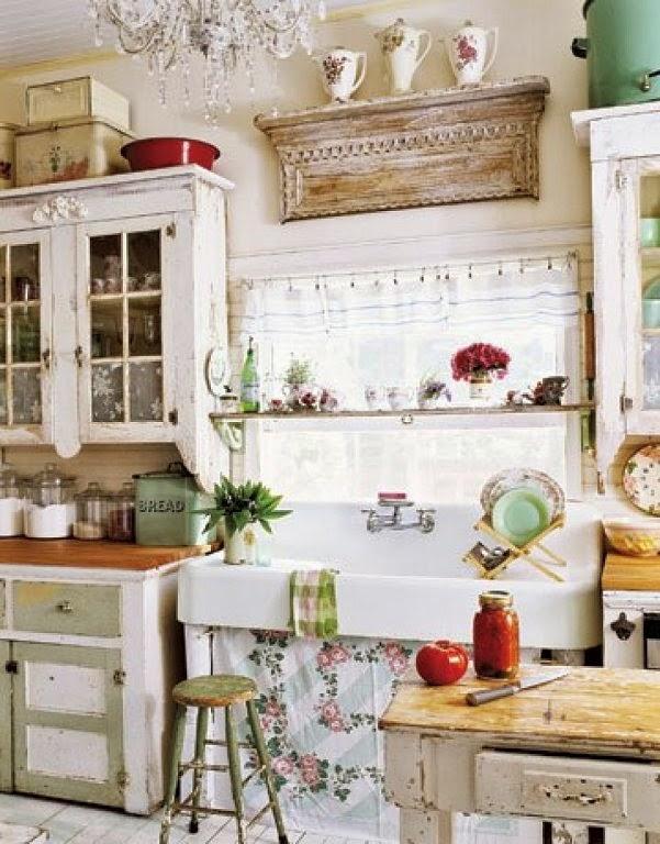 Estilo xviii provenzal decoraci n patri blanco - Cortinas estilo rustico ...