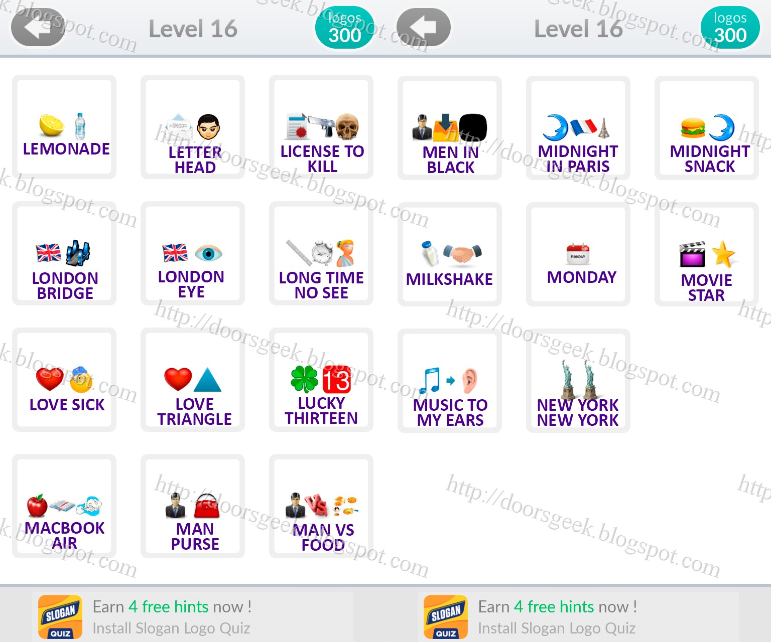"Connu Logo Quiz Emoji [Level 16] Answers by ""bubble quiz games"" ~ Doors Geek RX86"
