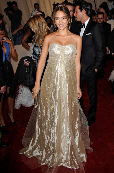 """Jessica Alba at the """"Alexander McQueen: Savage Beauty"""" Costume Institute Gala held at The Metropolitan Museum of Art on May 2, 2011 in New York City."""