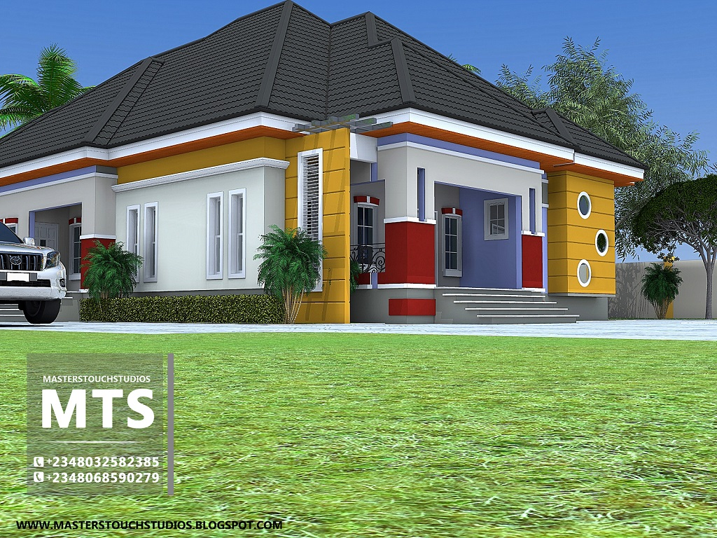 3 Bedroom Bungalow Architectural Design For