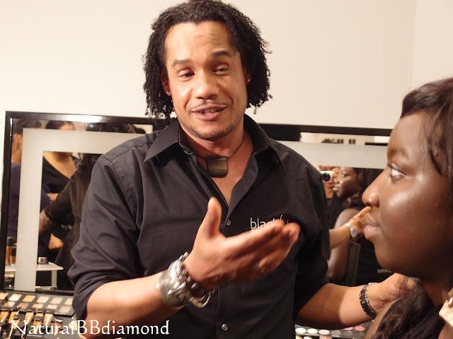David (maquilleur et formateur Black Up) et Sarane