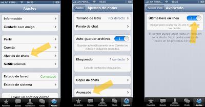 """Como ocultar el """"ult. vez"""" en WhatsApp para iPhone"""