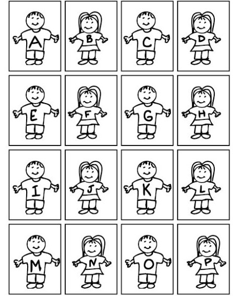 Kids Alphabet Coloring Pages