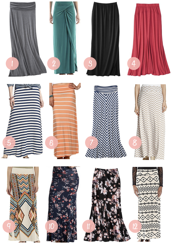 Putting Me Together: Shopping Help: Maxi Skirts