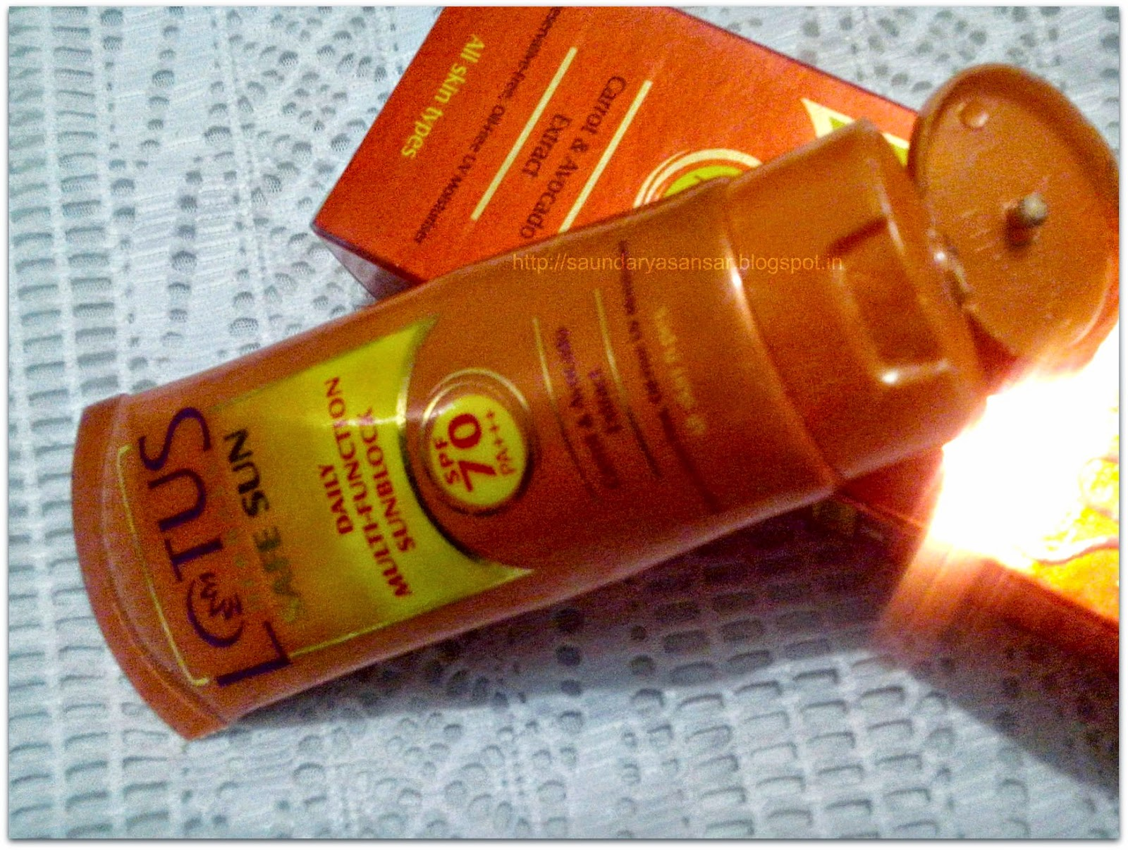 LOTUS Safe Sun- Daily Multifunction Sunblock- spf 70 PA+++ Tube Review