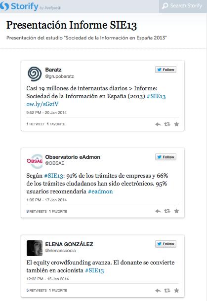 Crear con Storify una historia con contenidos de social media