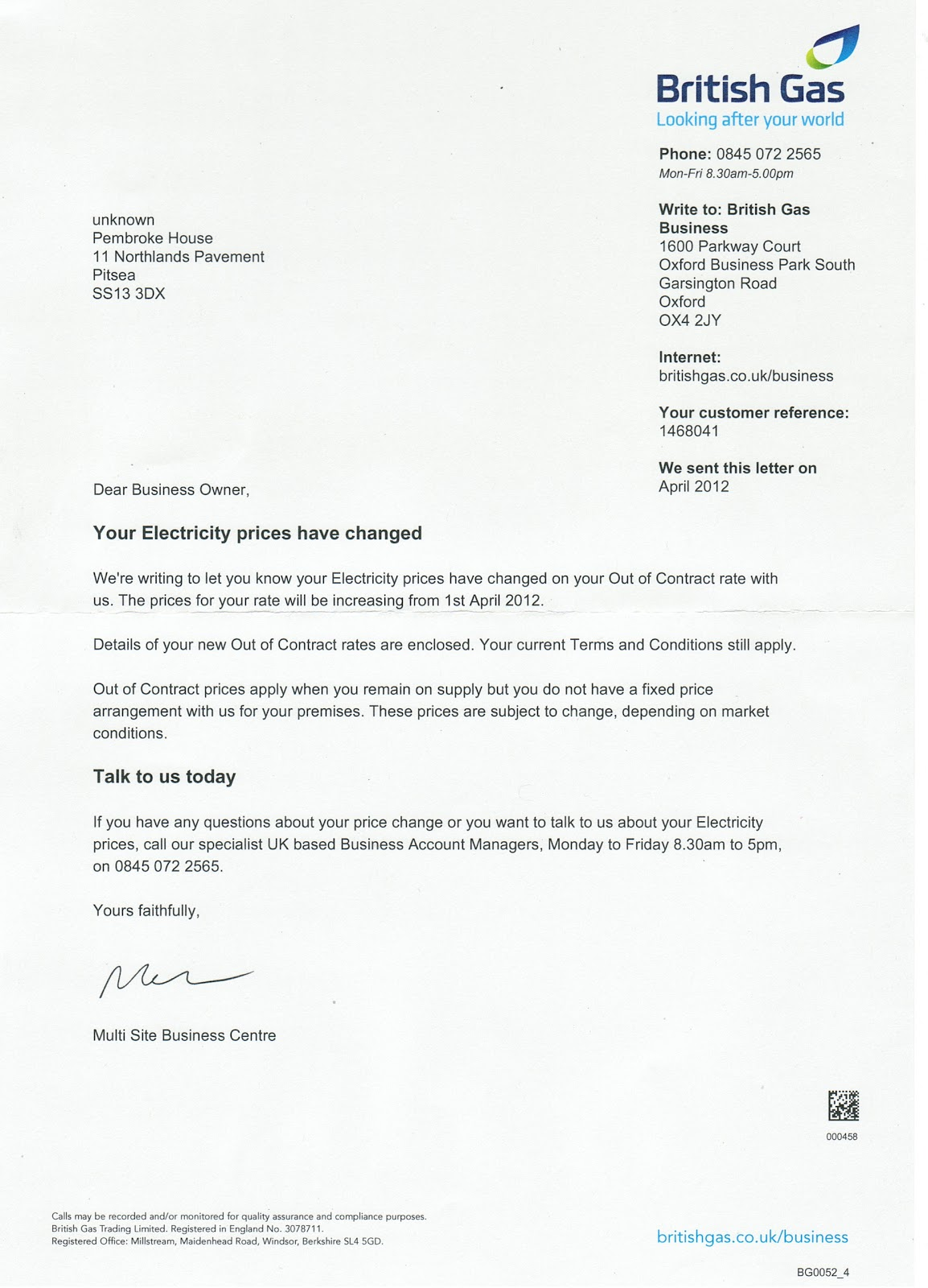 Cover letter british gas - pacesoftware.in