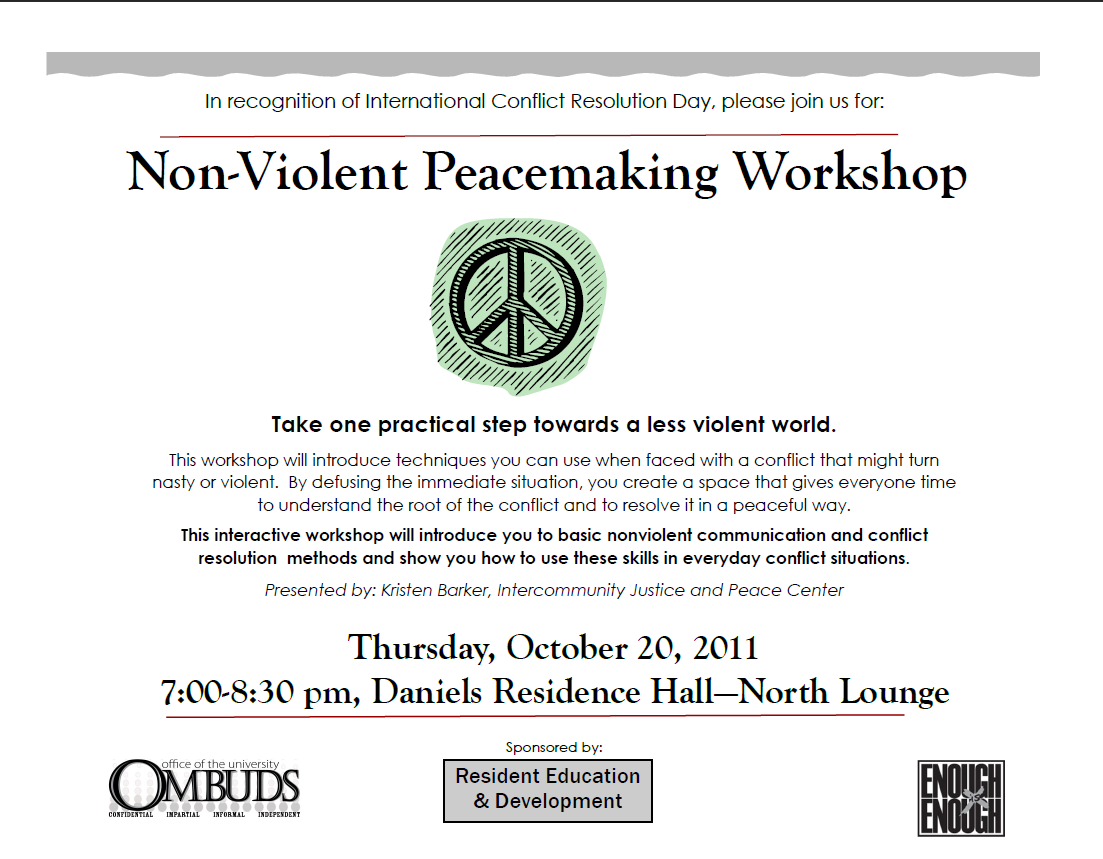 conflict resolution and peacemaking