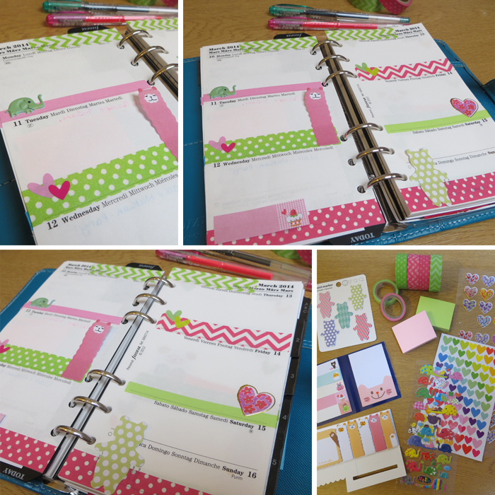 Filofax Decorating Week 11  at Poppy Sparkles #filofax #filofaxaddict #planner #diary #stationery #stickers #organized #washitape