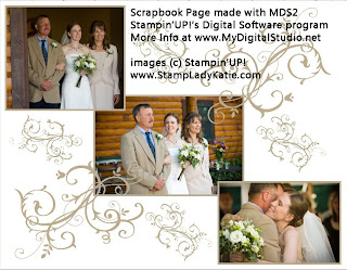 Scrapbook page made with Stampin'UP!'s My Digital Studio software