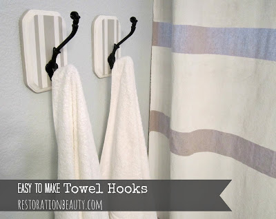 DIY Towel or Coat hooks