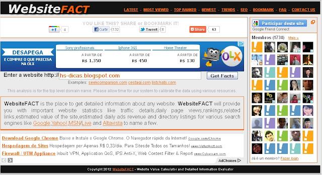 website fact - valor do blog e site