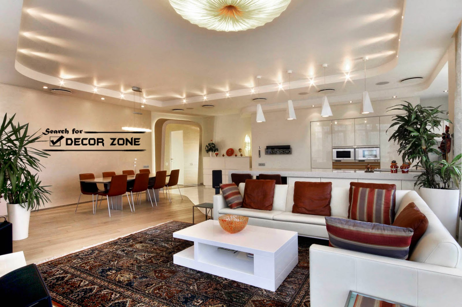 Contemporary Living Room White Furniture Sets