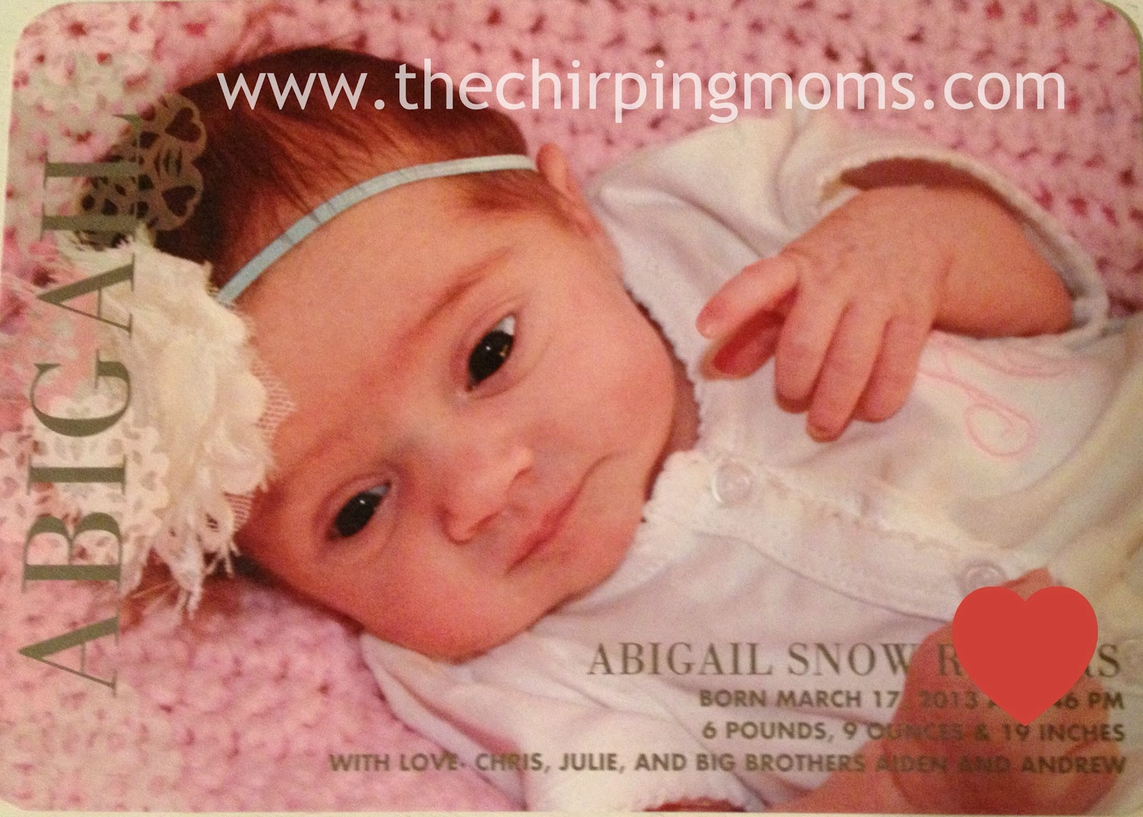 Sharing the birth announcementand a Tiny Prints GIVEAWAY The – Tiny Prints Birth Announcement