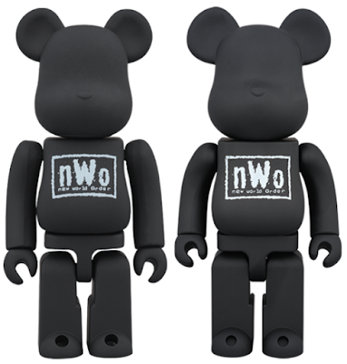 "WWE ""nWo"" 100% & 400% Be@rbrick Vinyl Figures by Medicom"