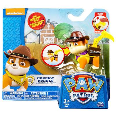 TOYS : JUGUETES - PAW PATROL : La Patrulla Canina  Cowboy Rubble | Hero Pup | Figura - Muñeco  Producto Oficial Serie TV Nickelodeon 2015 | A partir de 3 años  Comprar en Amazon España & buy Amazon USA