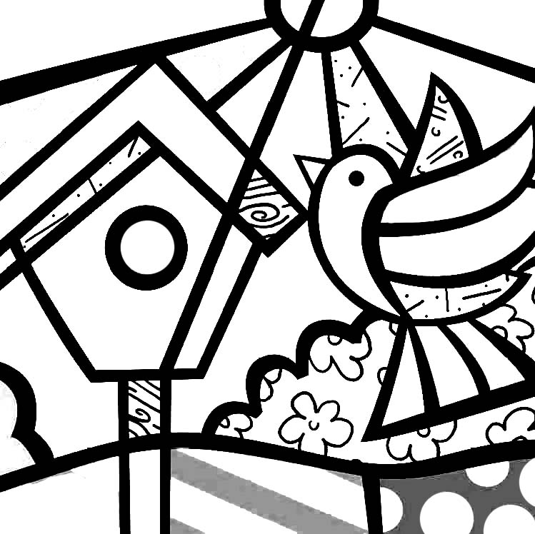 britto coloring pages - photo#15