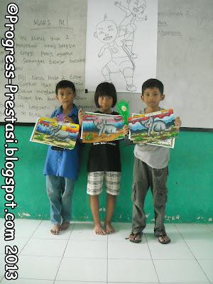 Juara Lomba Mewarnai Kategori SD/MI Kelas 1-3 Pesta Anak Kreatif Progress Prestasi Mojokerto