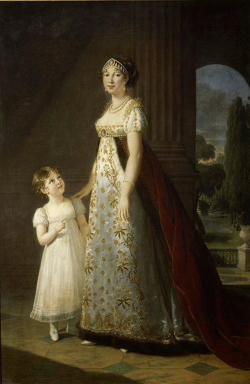 Caroline Bonaparte Murat with her daughter Letizia by Louise Élisabeth Vigée Le Brun, 1807