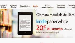 Giornata Mondiale del Libro sconto kindle paperwhite