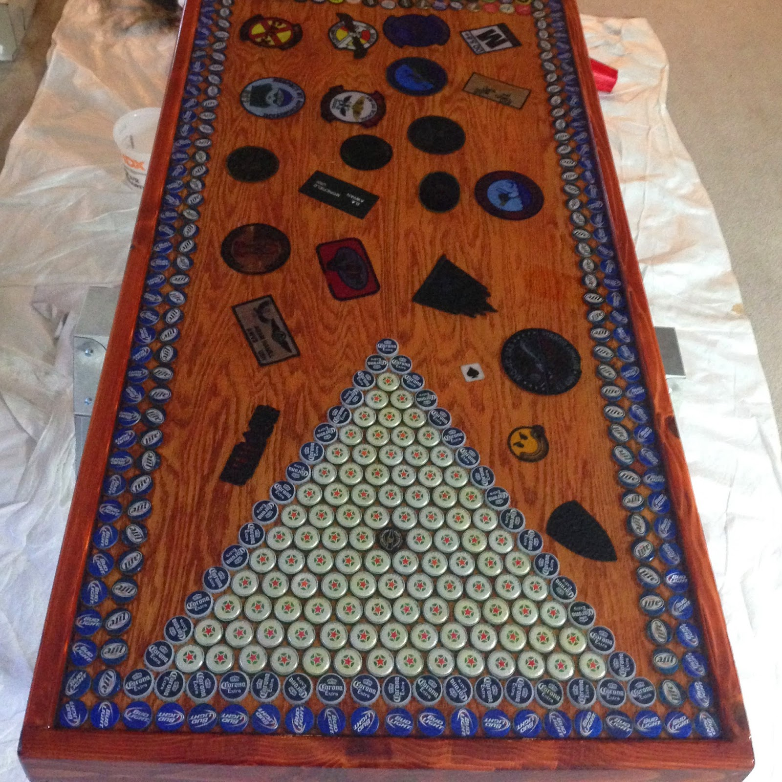 Itching For Fun: Navy Beer Pong Table - Customer Project