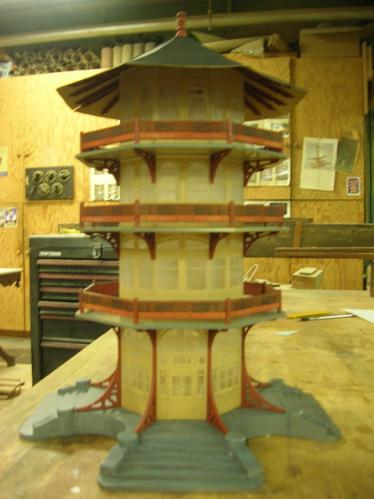 Highlandtown train garden original pagoda plans used for for Pagoda house plans