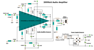 200 watt audio amplifier diagram circuit rh matterwiring blogspot com